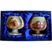 Набор из оникса 2 бокала 8см (3х3) в бархатной упаковке