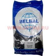 Шар воздушный 14 дюймов 25 шт «Череп черный» пастель Belbal шелкография