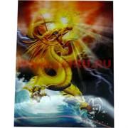 Картинки 3-D с драконами (6 видов)