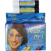 Краски художественные «Перламутр» 6 цветов для росписи лица и тела