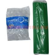 Палочки с креплением (розеткой) зеленые 100 шт для шариков