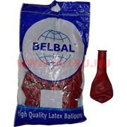 Шар воздушный 14 дюймов 25 шт «Горошек черный» пастель Belbal шелкография