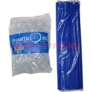 Палочки с креплением (розеткой) синие 100 шт для шариков