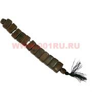 Перекидные четки из обсидиана коричневые