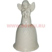 Колокольчик 12 см из фарфора (KL-1653) Ангелочек 144 шт/кор