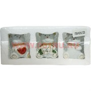 Мишки из фарфора (KL-1220) со стразами 48 шт/кор (цена за набор из 3 шт)