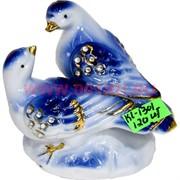 Голуби фарфоровые (KL-1301) со стразами 8 см высота 120 шт/кор