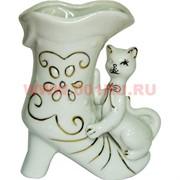 Ваза из фарфора «Кот с сапогом» (карандашница)