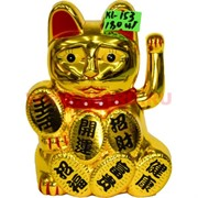 Кот манэки-нэко (KL-153) из пластика 11,5 см на 1 АА батарейку 180 шт/кор
