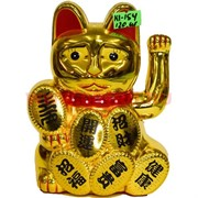 Кот манэки-нэко (KL-154) из пластика 14,5 см на 1 АА батарейку 120 шт/кор