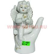 Ангелочек (KL-1401) фарфоровый 13,5 см с жемчужиной 60 шт/кор