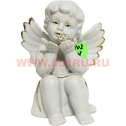 Ангелочек (KL-1202) фарфоровый 13 см с жемчужиной 48 шт/кор