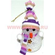 Снеговик маленький 13 см светящийся (с батарейками)