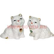 Кошечки из фарфора (Z-79) цена за 2 штуки со стразами
