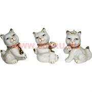 Кошечки из фарфора (Z-81) цена за набор 3 штуки со стразами