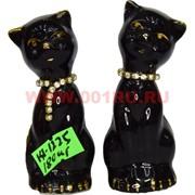 Кошки со стразами (KL-1225) из фарфора цена за пару 180 шт/кор
