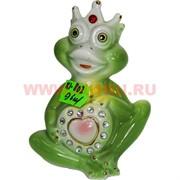 Лягушка-царевна из фарфора (KL802) со стразами 96 шт/кор