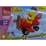 """Конструктор """"Маленький самолет"""" для девочек арт.1207"""