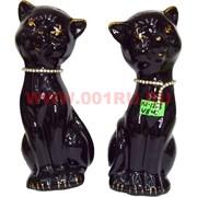 Котики со стразами (KL-1223) черные 16 см цена за пару (48 пар/кор)