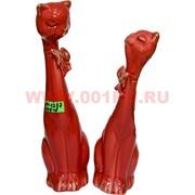 Парочка кошек из фарфора (KL-1237) 20 см высота 48 шт/кор