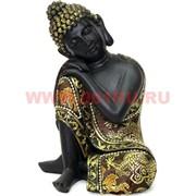 Будда 17 см сидящий (полистоун, ткань)