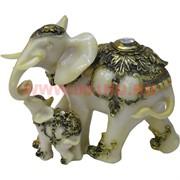 Слониха со слоненком (NS-842C) под кость