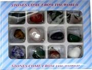 """Набор подвесок на шею """"камни"""" из натуральных камней (12 шт)"""