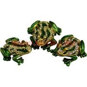 "Набор шкатулок ""Три лягушки"" цвет зеленый"