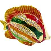 Шкатулка «Золотая рыбка» со стразами