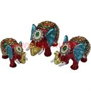 """Набор шкатулок """"Три слона"""" цвет бордовый"""