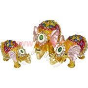 """Набор шкатулок """"Три слона"""" цвет золотистый"""
