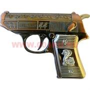 Зажигалка газовая сувенир «Пистолет с драконом» с лазером