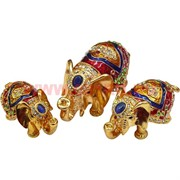 "Набор шкатулок ""Три слона"" цвет микс (4491)"