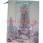 Пакет подарочный с блестками 24х18 см (20 шт/уп)