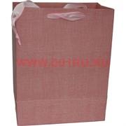 Пакет подарочный 6 цветов 18х23 см однотонный (20 шт/уп)