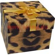Коробка подарочная 3 шт «зебра, леопард» цена за набор