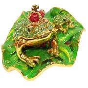 Шкатулка «2 жабки со стразами»