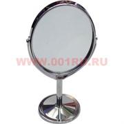 Зеркало овальное металлическое 90 мм диаметр
