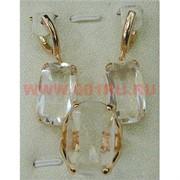 "Набор серьги и кольцо ""Валенсия"" под кристалл размер 17-20"