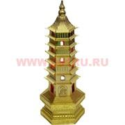 Пагода с подсветкой из металла 18 см (под золото)