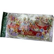Картинка новогодняя (DM-12) Дед Мороз на санях цена за 10 шт