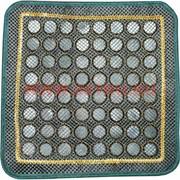 Нефритовый коврик с сеточкой квадратный