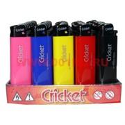 """Зажигалка """"Cricket"""" цвета в ассортименте, 50 шт/бл (крикет купить оптом)"""