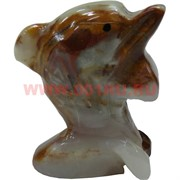 Дельфин из оникса 6,5 см (2,5) 4 шт/уп