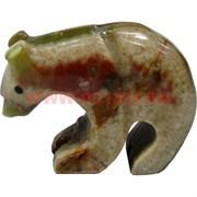 Медведь из оникса 4 см (2 дюйма) 4-6 шт/уп