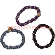 Резинка для волос цветная с бусинами (CJ-1395) цена за 100 шт