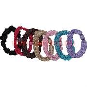Резинка для волос цветная с бусиной (CJ-3201) цена за 100 шт