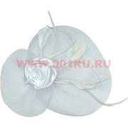Сетка для волос с бантом-цветком и обручем или зажимами, цена за 12 шт