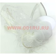 Сетка для волос с перьями (обруч или зажим) цена за 12 шт