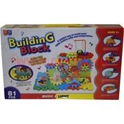 Конструктор Building Block 81 деталь (свет, звук)